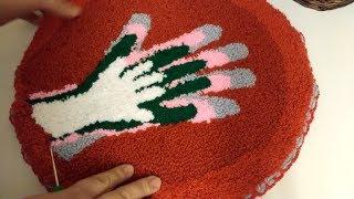 Мастер класс ковровая вышивка из остатков пряжи От безделья Рукоделие