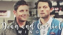 Dean and Castiel - Wings