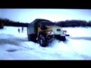 На Уралах по зимнику настоящие монстры бездорожья