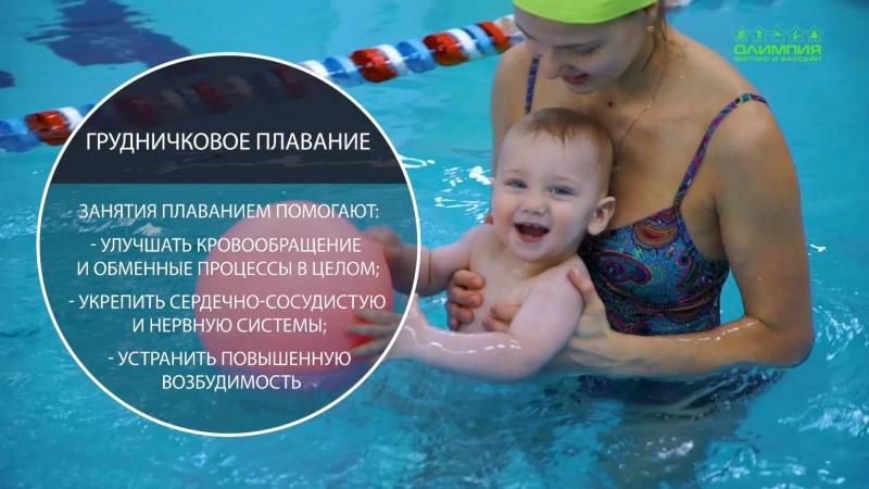 Обучение плаванию малышей в фитнес клкбе ОЛИМПИЯ смотреть онлайн без регистрации