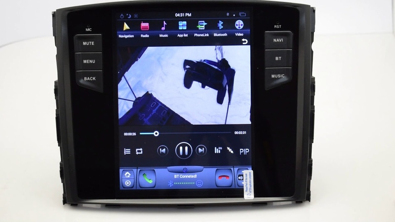 KiriNavi Vertical Screen Tesla Style android 6.0 10.4 for mitsubishi pajero android car dvd 4G