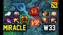 When Miracle Meets w33 mid, It's Explosive! Dota 2