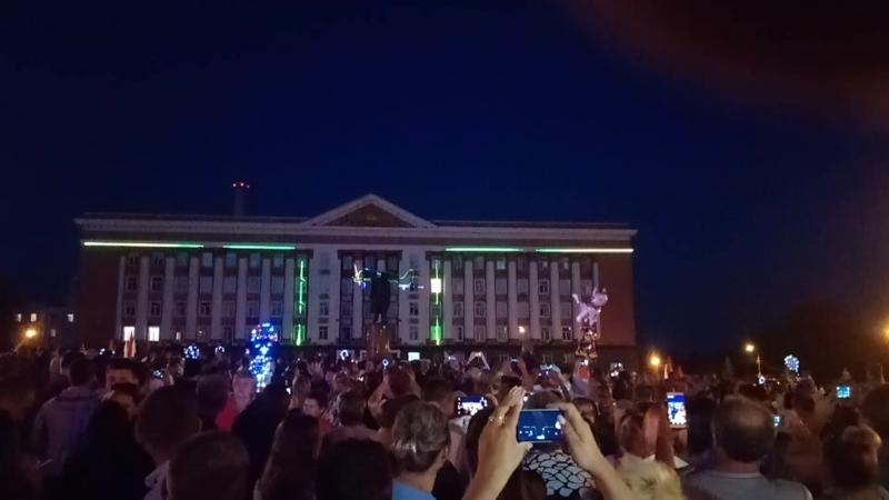 лазер шоу на 75 лет Курской битвы