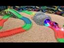 Magic Tracks Мега Сет с мостом, тоннелем и гоночными машинками