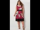 Бордовое платье с цветочным рисунком 136353