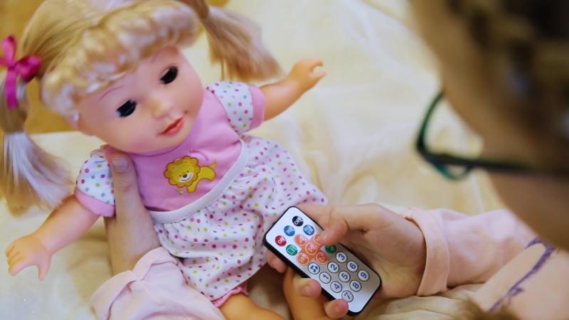 Интерактивная кукла «Подружка Кристина» 10 режимов, 2 языка, 15 стихов, 6 сказок, 8 песен