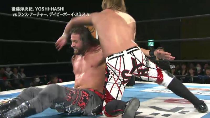 Hirooki Goto, YOSHI-HASHI vs. Lance Archer, Davey Boy Smith Jr. (NJPW - New Japan Cup 2018 - Day 8)
