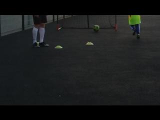 Максим в футбольной школе.