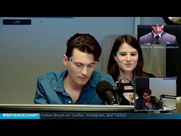 Bryan Dechart aka Connor Plays Detroit: Become Human w/ Amelia Rose Blaire - Full Stream 1