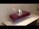 Биокамин Glowing бордовый от ЭкоЛайф видео обзор
