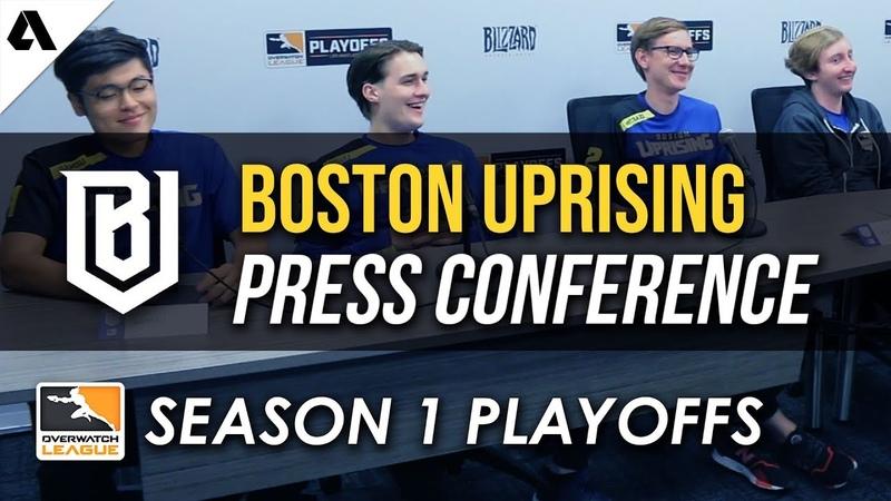 Boston Uprising Overwatch League Quarterfinals Playoffs Press Conference