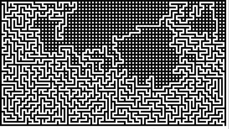 Visualization of the labyrinth generation algorithm