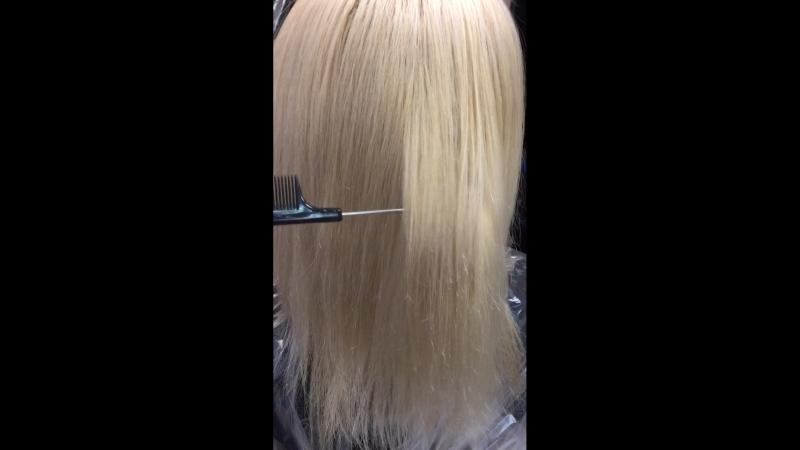 КЕРАТИНОВОЕ ВЫПРЯМЛЕНИЕ волос( был очень мелкий завиток)