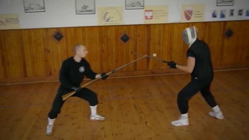 Bayonet fencing training and drill