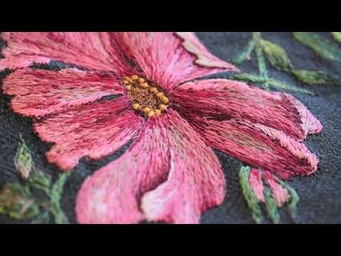 Вышивка на швейной машинке - Художественная Гладь