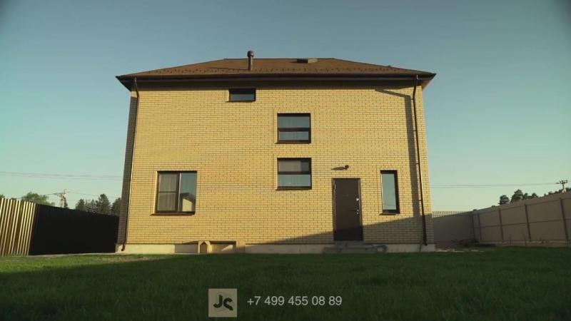 Каркасный дом с кирпичным фасадом