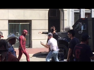 Filming for The Flash Season 5 in Gastown