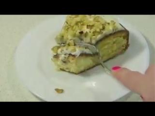 Пятиминутка  пирог к чаю за 5 минут (+время на выпечку) вкусный пирог по бабушкиному рецепту.