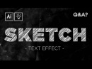 Sketch / Scribble Text Effect | Adobe Illustrator Quick Tips Tricks 5