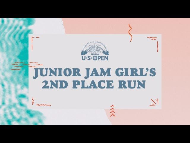 2018 Burton U·S·Open Junior Jam – Girl's 2nd Place Run