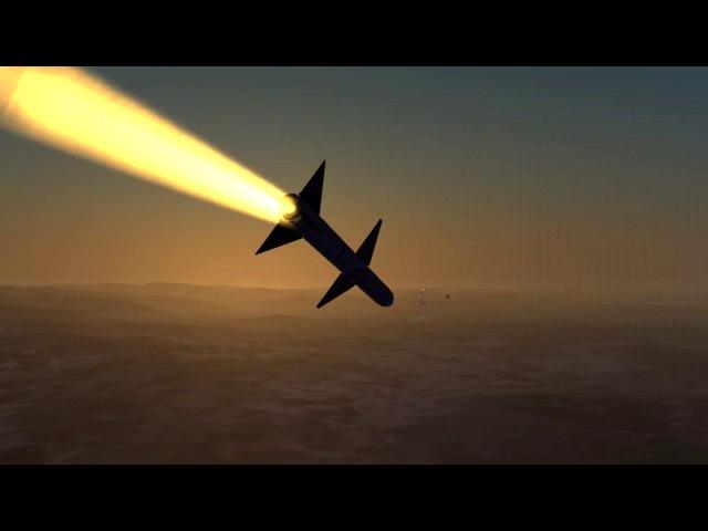 Су-27 против F-18C. Пуск ракеты и красивое уклонение dcs world
