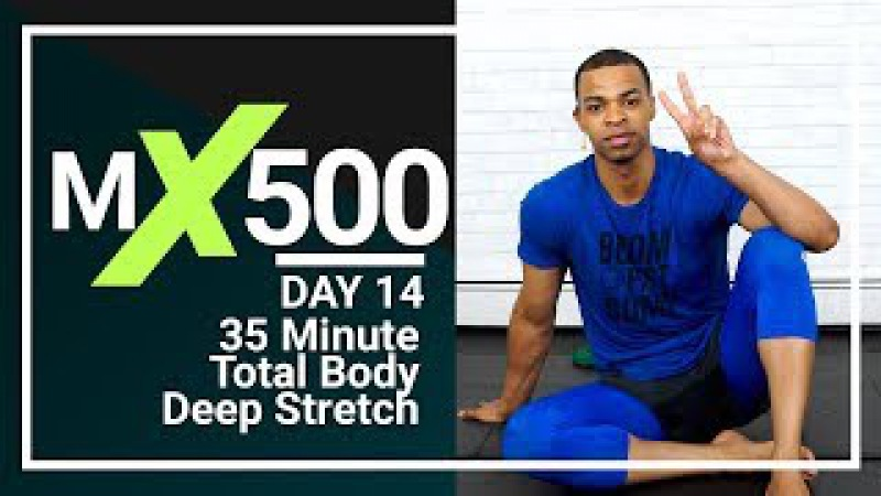 35 Min Full Body Yoga Stretch Routine to Improve Flexibility Tight Muscles At Home MX500 14