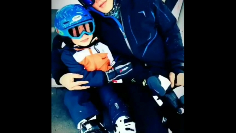 SRK and Abram skiing in the Alps