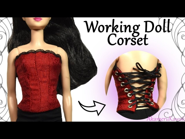 How to: Working Doll Corset - Sewing Craft Tutorial