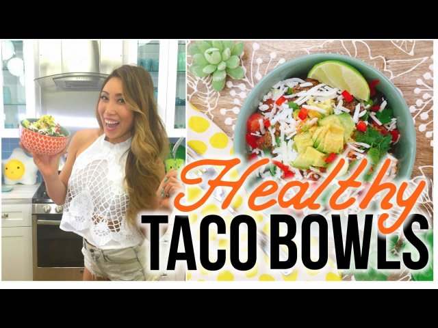 Healthy Taco Bowls! Make your own Chipotle Burrito Bowl at home!