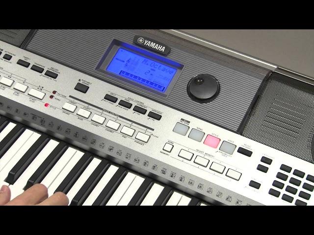 Дополнительные настройки в меню FUNCTION инструмента Yamaha PSR-E443