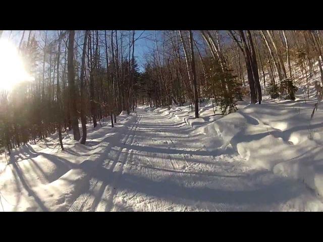 Maine Huts Trails Stratton Brook Hut XC Ski Out.mp4