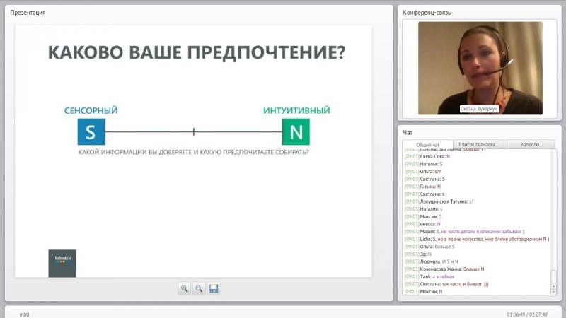 Кухарчук Оксана. MBTI типология личности. Построение отношений