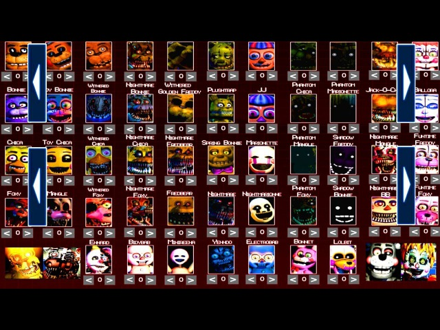Five Nights at Freddy's 6 All EXTRAS FNAF 1 2 3 4 5 (All Animatronics) *FNAF 2018*
