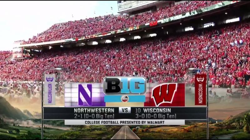 NCAAF 2017 Week 05 Northwestern Wildcats 10 Wisconsin Badgers 2Н 30 09 2017 EN