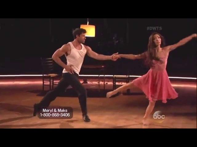 Maksim Chmerkovskiy Meryl Davis dancing Rumba on DWTS 5 5 14