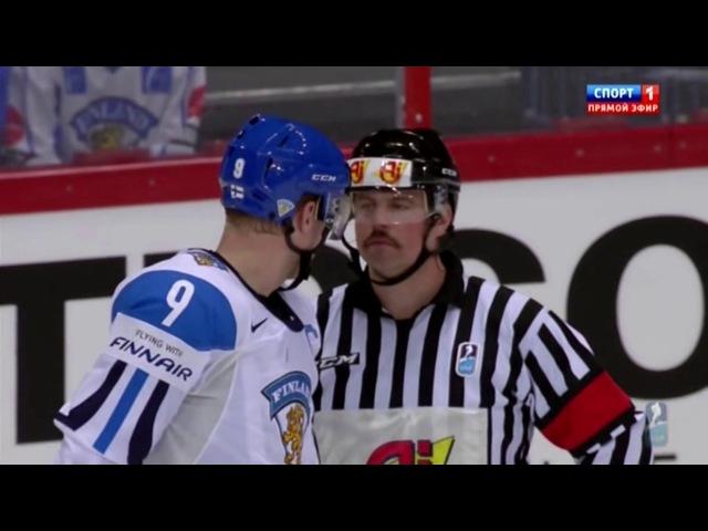 ЧМ по хоккею 2012 США - Финляндия 1/4 финала, 2-й период