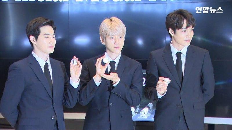 [현장영상] 백현·수호·카이 얼굴이 앞면에…조폐공사, 엑소 기념메달 공개