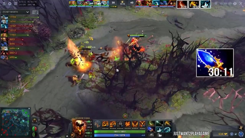 [JustWant2PlayAGame] GH Shadow Fiend Refresher - WTF Hard Game Dota2
