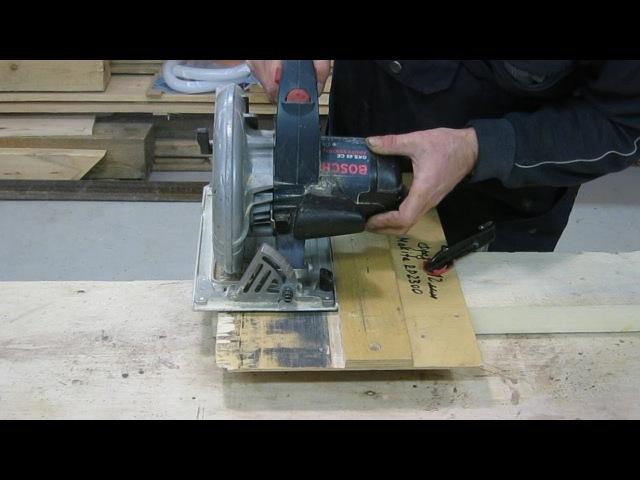 Приспособление для торцевания ручной дисковой пилой. Восстановление кромки