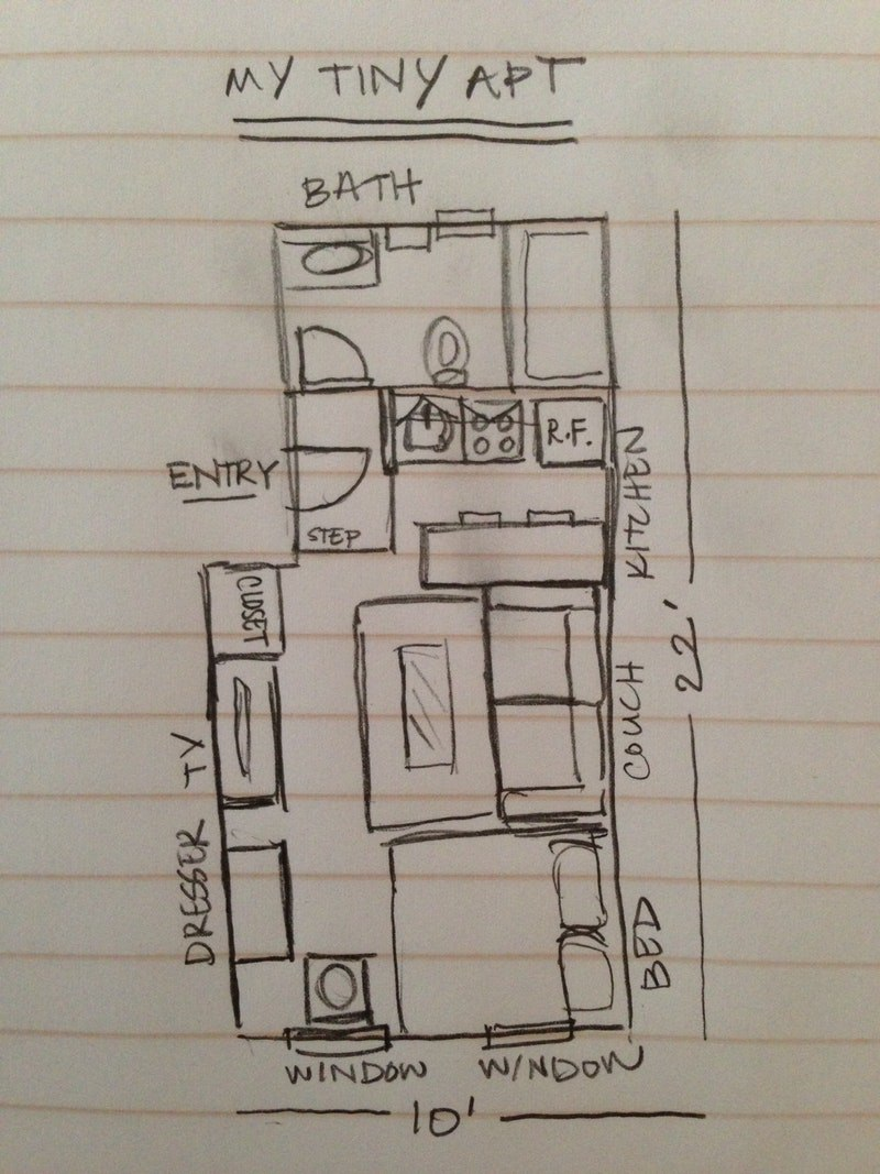 Маленькая квартира-студия 21 м в Нью-Йорке.