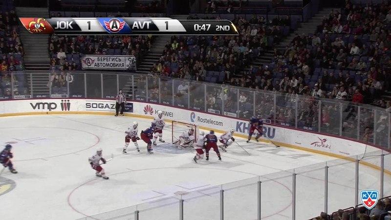 Моменты из матчей КХЛ сезона 14/15 • Гол. 2:1. Йоэнсуу Ессе (Йокерит) забрасывает шайбу в ворота соперника 27.10