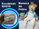 Aprenda a ESCULPIR ROSTO DE BONECA DE FELTRO