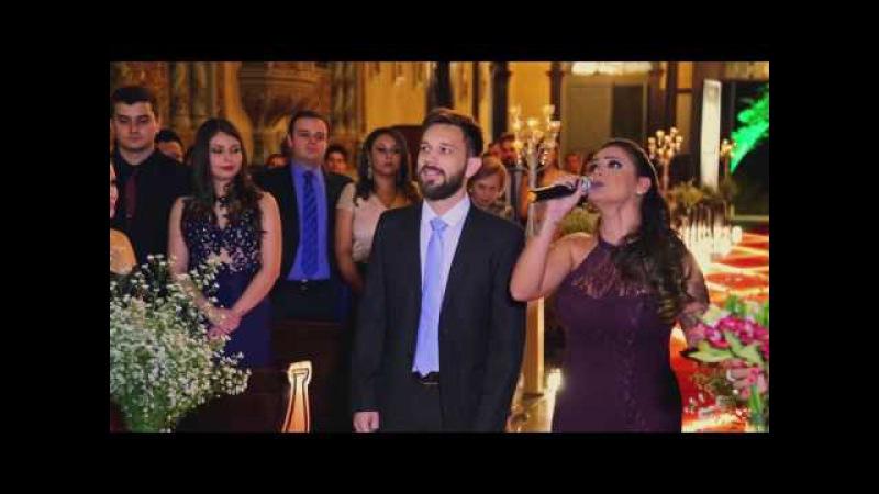 Noivo e padrinhos cantam ALELUIA (Halleluja) - Casamento Lucas Berton e Patrícia Devens