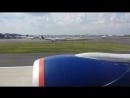 Взлёт Boeing 777-300ER, б/н VP-BGC, в JFK, 12.08.2016