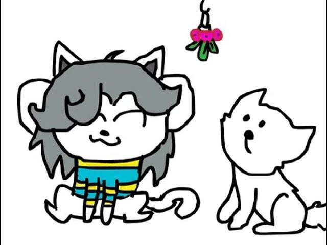 Undertale:Kiss Kiss:Temmie x Annoying Dog (Animation)