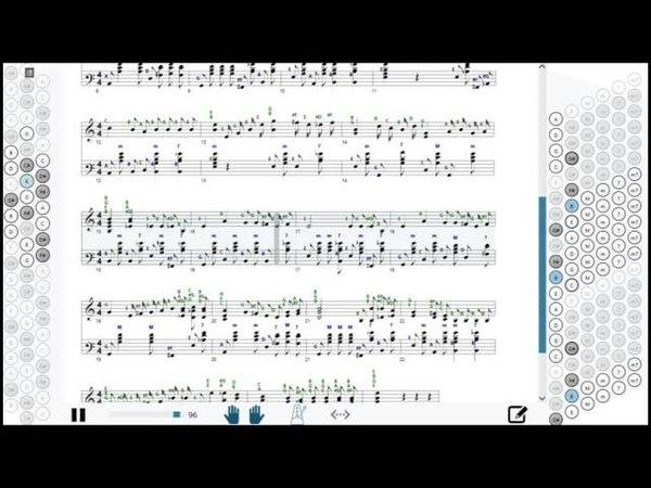 Как играть на баяне Ой, цветет калина   How to play on accordion   SMT Pro