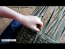 РЕКОНСТРУКЦИЯ (15). ТЕХНОЛОГИИ И БЫТ КАМЕННОГО ВЕКА. Технология расщепления ствола бамбука и плетения корзин.