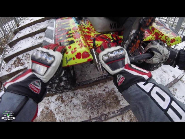 Yamaha Banshee 350 first snow / Honda CRF450R / Damage!