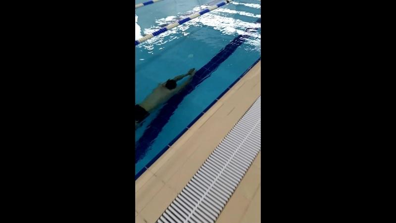 Ныряние в длину примерно 65 метров (динамика без ласт в бассейне) dnf