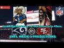 Los Angeles Rams vs San Francisco 49ers | #NFL WEEK 3 | Predictions Madden 18